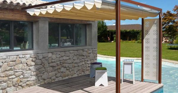 pergola adoss e toile amovible pergolas and toile. Black Bedroom Furniture Sets. Home Design Ideas