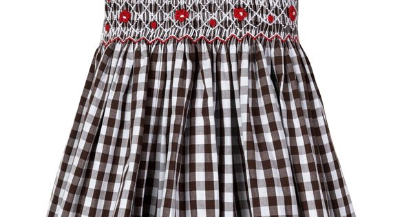 "LIMITED Aurora Royal /"" Tallulah /"" Front @ Back Hand-Smocked Check Dress"