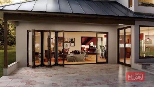 Milgard Moving Glass Wall Systems Bi Fold Glass Door Panels Glass Wall Systems Patio Doors Garage Door Design