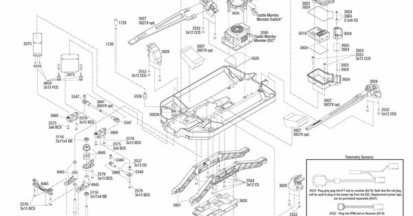 Traxxas Emaxx Parts Diagram Brushless 3908 Chassis