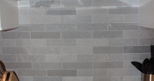 Lady Grey Brushed Stone Backsplash Home Ideas