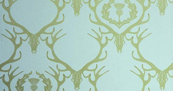wallpaper deer damask - photo #20