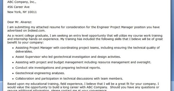 cover letter engineer project manager creative resume design