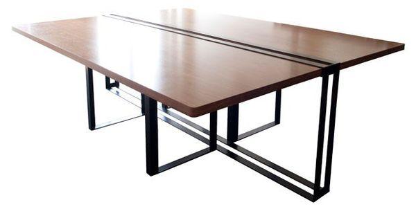 Rectangular wooden meeting table Séverin Collection by Alex de Rouvray design | design Alex de ...