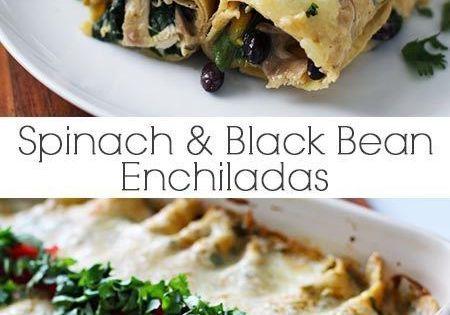Black Bean and Spinach Enchiladas | Recipe