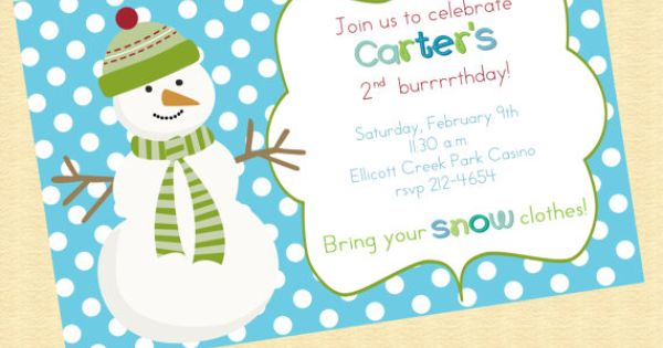 Winter Onederland Birthday Invitations is beautiful invitation template