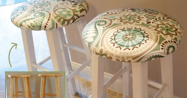 DIY Bar Stool Upgrade: Nice! I think I'll repaint mine first. DIY