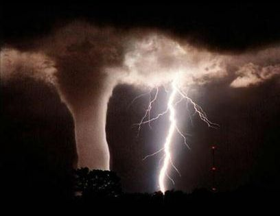 Tornado & Lightning Lightning can serve as a natural sensing tool that
