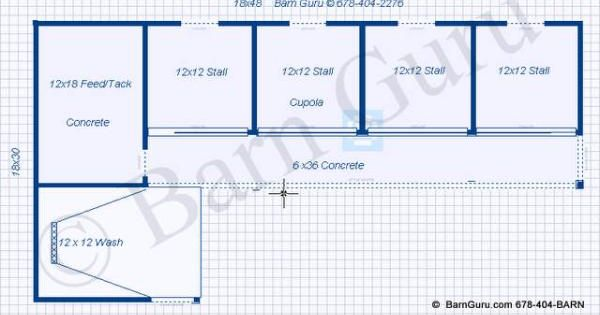 4 Stall Horse Barn Design Plan Building Plans Tips And
