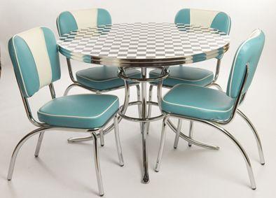 Retro American Diner Style Furniture Retro Table And Chairs Retro Kitchen Retro Furniture