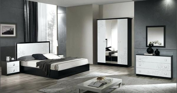 Deco Chambre Blanc Noir Argent Avec Images Deco Chambre