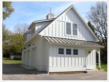White Dormers Lights Cupola Board And Batten Carriage House Garage Farmhouse Garage Barn House