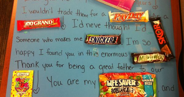 ... his favorite candies! Cost with the poster board was u2026 : Pinteres