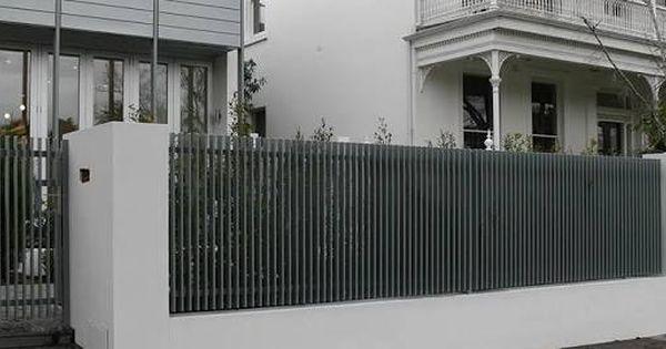Image Result For Vertical Batten Fence Timber Slats Aluminum Fence Aluminum Fence Privacy