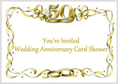 Host A Wedding Anniversary Card Shower With Images 50th