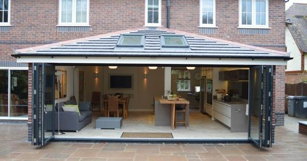 Low Pitched Roof Extension Glass Google Search House Extension Plans House Extension Design Bungalow Extensions