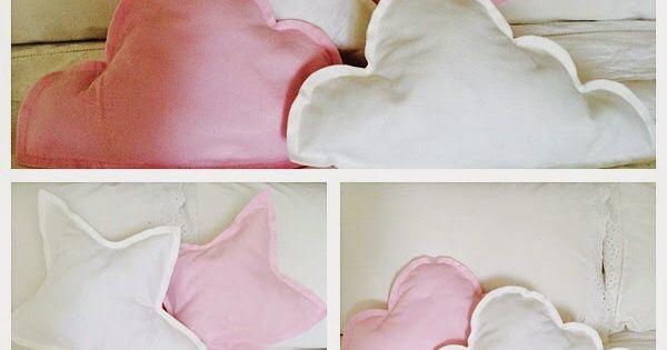 Cojines con formas de nube y estrellas cushions for Cojines de nubes