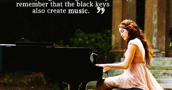 Life Quote ~ piano keys