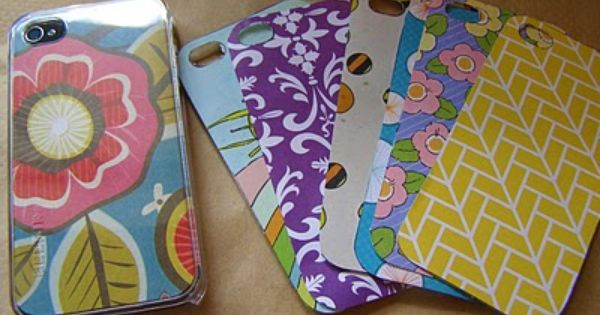 diy iPhone cover: Buy a clear iPhone case and cut out scrapbook