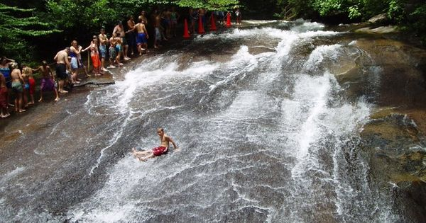 Sliding Rock in North Carolina It is located in Pisgah National Forest