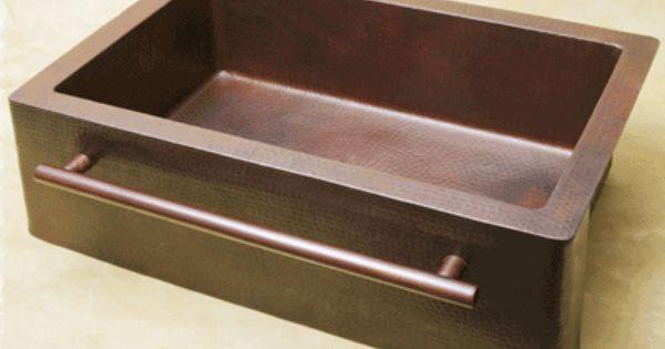 Fha33 Tb 33 Inch Copper Farm Apron Kitchen Sink Designer Front Towel Bar Apron Sink Kitchen Towel Bar Copper Kitchen Sink