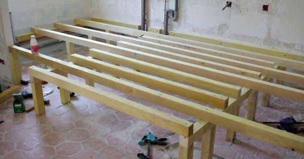 Estrade et lit fredfabric chambre pinterest for Construire un lit escamotable