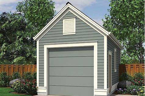 Image Result For Single Car Detached Garage Plans Garage Plans Detached Garage Floor Plans Building A Shed