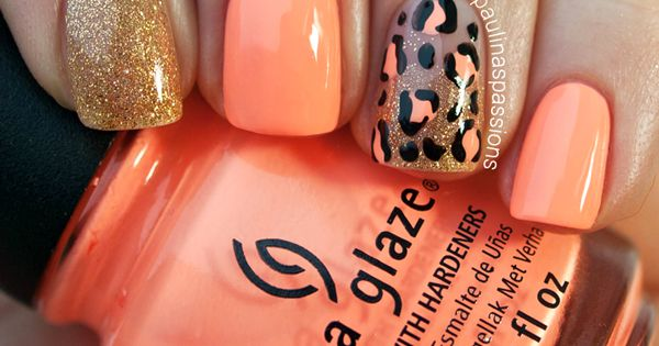 18 Fabulous Animal Print Nail Art Designs China Glaze Sun of a
