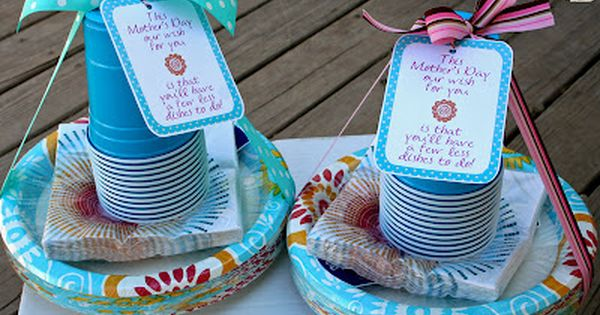 No dishes on Mother's Day... gift idea for friends, visiting teachers, teachers,