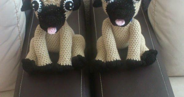 Perro Pug Amigurumi Patron Gratis : Amigurumi Pug - FREE Crochet Pattern / Tutorial ...
