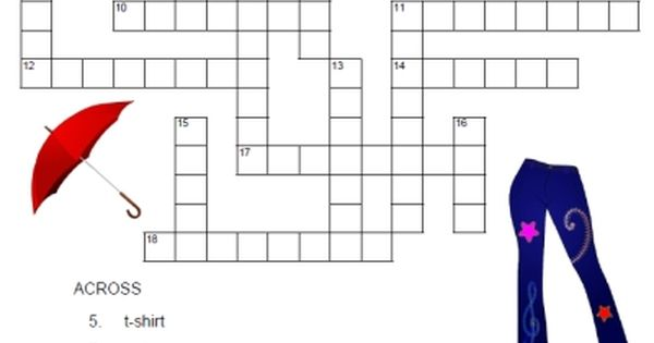La Ropa Tres FREE Spanish crossword with answer key from ...