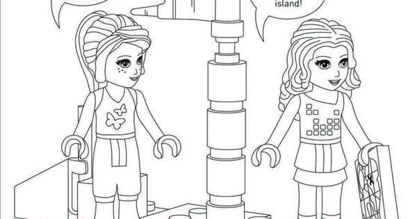 LEGO Friends coloring sheet Activity