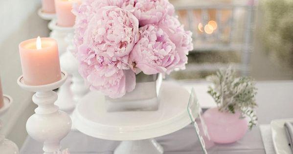 Planche Inspiration Id Es Mariage Rose Personnalis Gris D Co Table Fleurs Bougies Fleurs