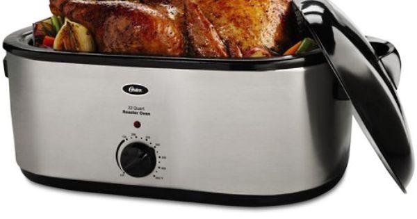 Oster CKSTRS23 22-Quart Roaster Oven, Stainless Steel ... Oster 22 Quart Roaster Oven
