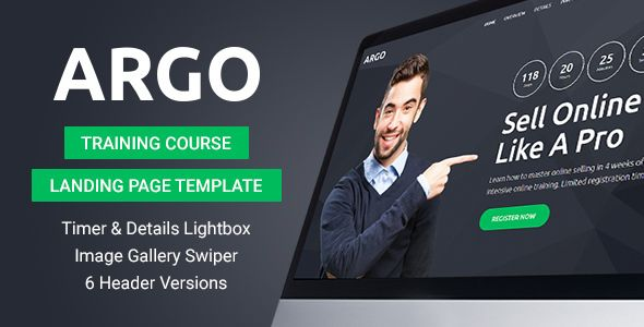 Argo - Training Course Landing Page Template Bootstrap HTML landing