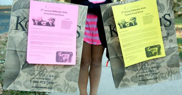 Great idea: distribute grocery bags to houses in your neighborhood and ask