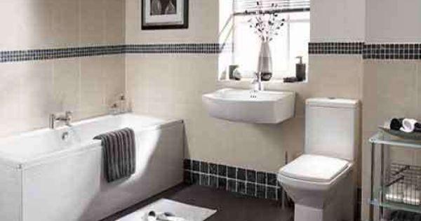 A classic bathroom with black 1x1 mosaic tiles as border for Bathroom design 2x2