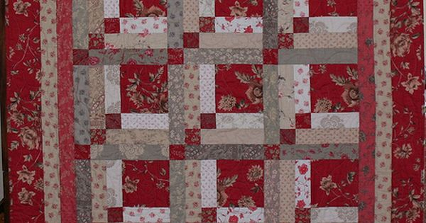 Quilt Pattern Is Upstairs And Downstairs A Log Cabin