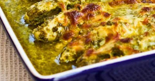 Basil Pesto Chicken- made with the homemeade Basil Lemon Pesto recipe