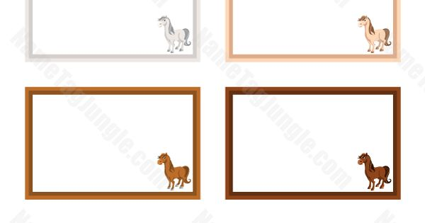 Free Printable Horse Name Tags The Template Can Also Be