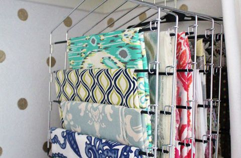 Such a sensible and inexpensive way to store fabric! I have a
