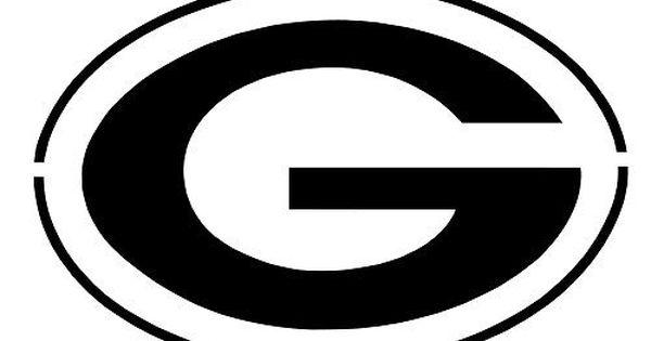 Nfl Green Bay Packers Big G Logo Stencil Free Usa S H Free Stencils Green Bay Packers Logo Green Bay