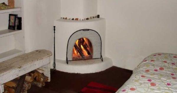 Kiva Fireplace In Bedroom Kiva Fireplaces Pinterest