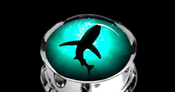Shark Face Teardrop Plugs Gold Stainless Steel Ear Gauges