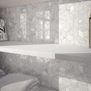 Carrelage Mur Intenso Marbre Blanc Carrare Brillant L 30 5 X L 56