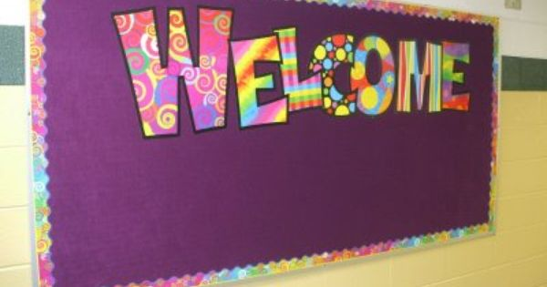 bulletin board ideas for back to school   Welcome+back+to ... Smarties Box Design