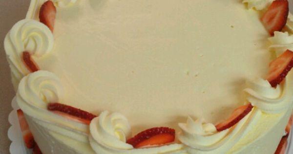 Strawberry Bavarian Cream Cake My Own Creations
