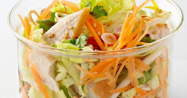 Salade tha de poulet au chou chinois recette - Cuisiner du chou chinois ...