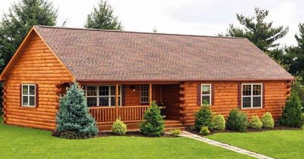 26 X 52 Frontier With 8 12 Pitch Roof Log Home Builders Log Cabin Plans Prefab Log Cabins