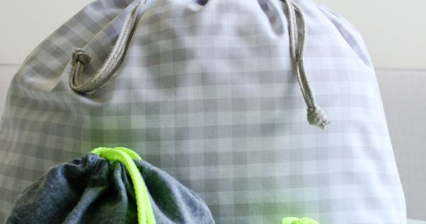 DIY Drawstring Bag from the Purl Bee via Martha Stewart. Laundry bags.
